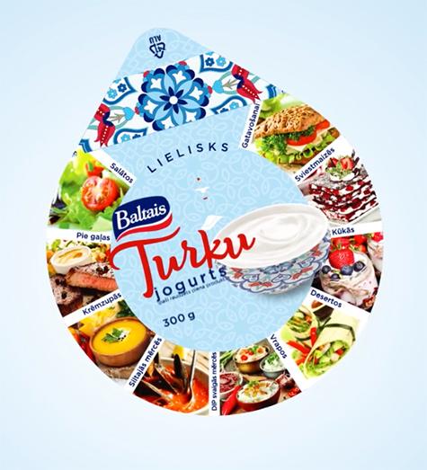 Tukuma piens<br />Baltais Turku jogurts
